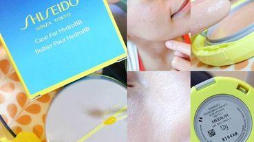 乾淨清爽的夏日裸妝|SHISEIDO資生堂國際櫃新艷陽‧夏水離子防曬水粉餅,編輯二度回購分享