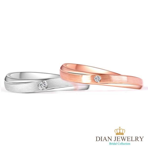 【DIAN 黛恩珠寶】邱比特之心 鑽石結婚對戒(情人鑽石對戒 系列)
