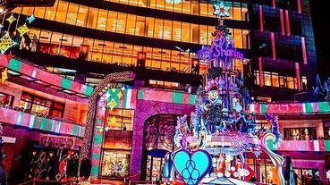 巨型霓虹燈管耶誕樹太搶眼!2019「愛‧Sharing」打造美國Las Vegas主題耶誕城~霸氣金錢豹、夜光之城太迷幻!