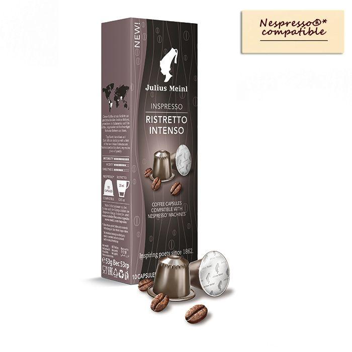 julius meinl 膠囊咖啡與 nespresso®*膠囊咖啡機是相容的。julius meinl capsules are compatible with nespresso®* machin