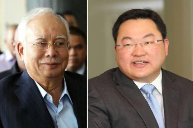 Najib Razak (left)  and Low Taek Jho, known as Jho Low,