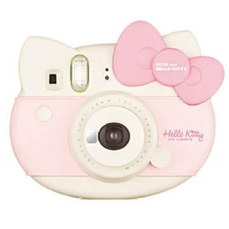 Hello Kitty 限定設計造型  快門速度1/60秒  本組合含HELLO KITTY包裝盒+HELLO KITTY底片*1+HELLO KITTY貼紙+相機肩帶