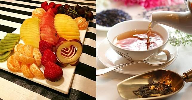 進食水果和飲用茶都可以令口腔更清新,有助解膩。(互聯網)