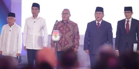 Debat pasangan Capres. ©2019 Liputan6.com/Faizal Fanani