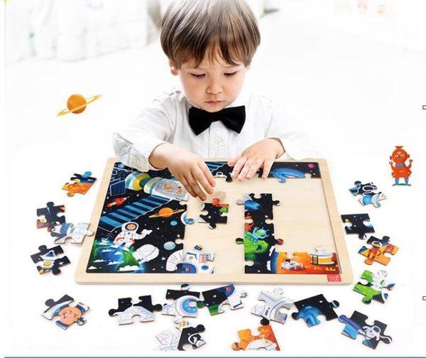 TOI拼圖木質兒童拼板寶寶益智早教地圖拼圖1-2-3-6周歲男女孩玩具