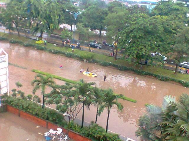 Ilustrasi banjir di Jakarta