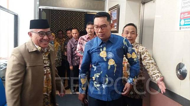 Gubernur Jawa Barat Ridwan Kamil melakukan kunjungan kerja ke Kantor Walikota Depok, Kamis, 17 Juli 2019. TEMPO/IRSYAN HASYIM