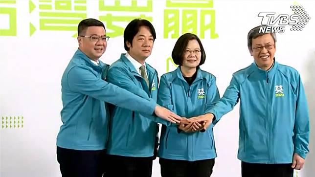 蔡英文正式宣布副手為賴清德。(圖/TVBS資料照)