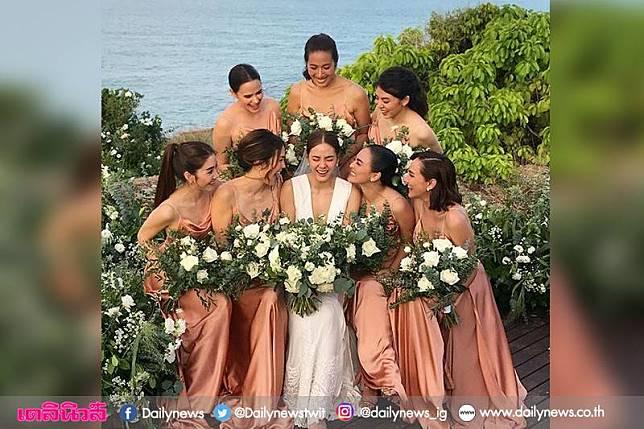 ชื่นมื่น!'เจนี่-มิกกี้'ฉลองแต่งงาน สุดหวานกลางเกาะสมุย