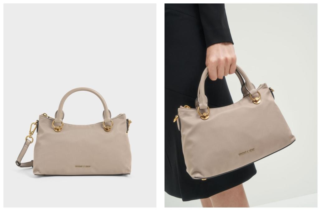 時髦防疫療癒色系包款推薦 3.  尼龍手提包