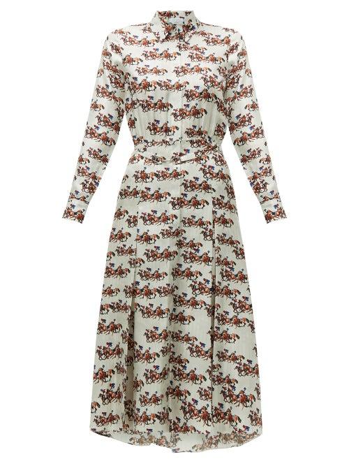 Gabriela Hearst - Gabriela Hearst's white silk-twill Mariano shirtdress echoes the languid, tailorin