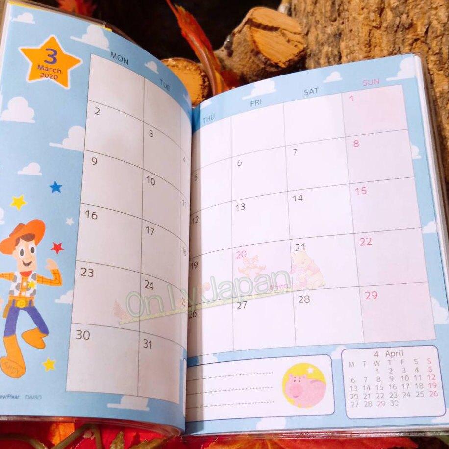 【真愛日本】玩具總動員 迪士尼 巴斯胡迪三眼怪 筆記本 記事本 年曆本 手帳 2020年 4964694397784 手帳本A6-2020TOYSTORY