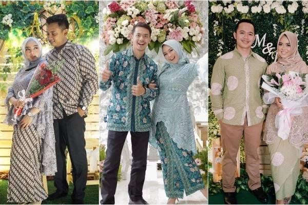 8 Model Kebaya Couple Dengan Hijab Untuk Acara Tunangan