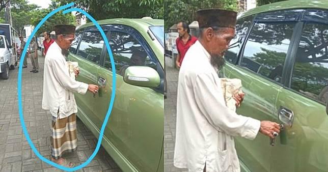 Kisah pengemis tua berhidung cacat punya mobil pribadi, bikin heboh