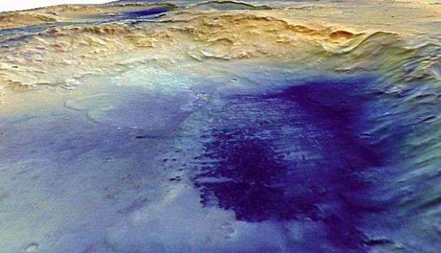 Kawah McLaughlin di Planet Mars. dailymail.co.uk