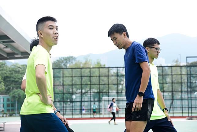 浩燊(左)今年第二次參加毅行者。