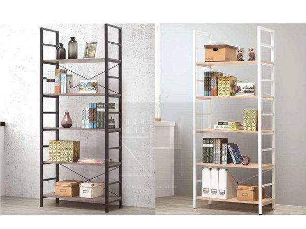 【振鴻家具】五層書架(DIY) 古橡色、原橡色五層書架 兩色可選擇