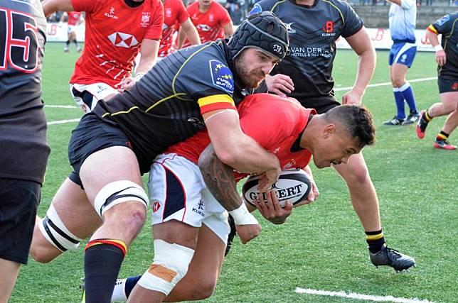 Hong Kong men's rugby team top Belgium in Brussels during international friendly