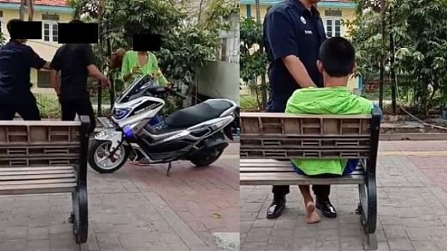 ODGJ dipukul petugas. (Facebook/Yusuf Neo Pamungkas)