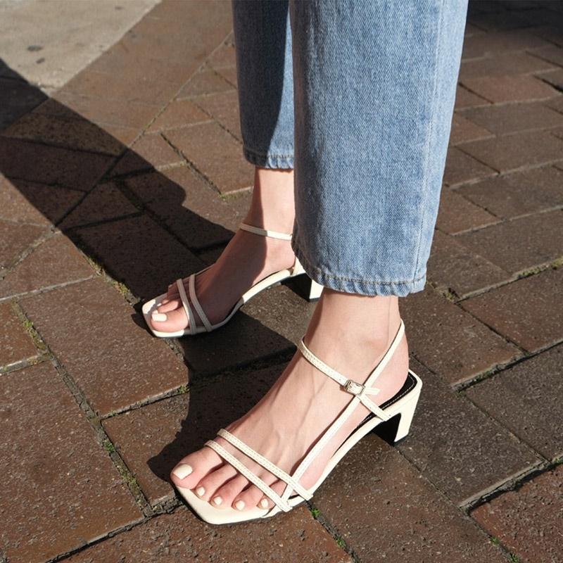 [SAPPUN官方旗艦店]Olleby釦帶高跟涼鞋(6.5cm)