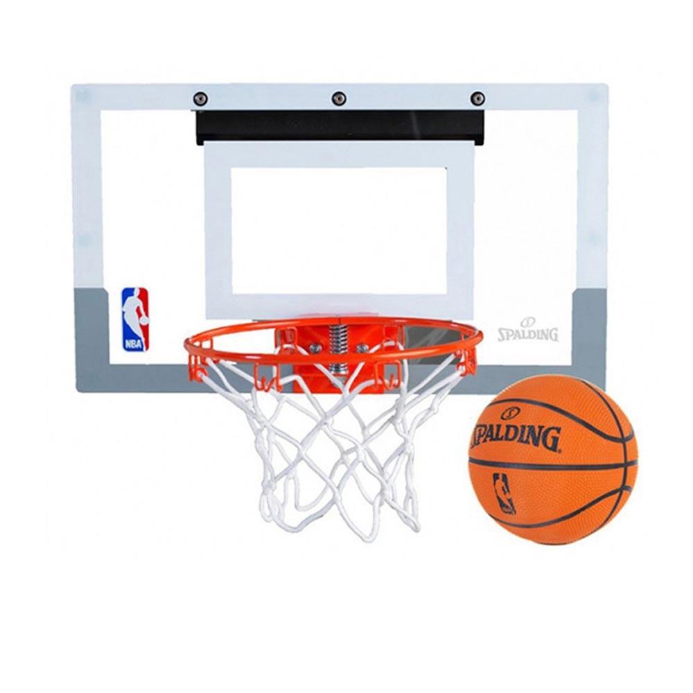 鋼製籃框,仿真材質。籃板尺寸約46x27公分。附橡膠小籃球。