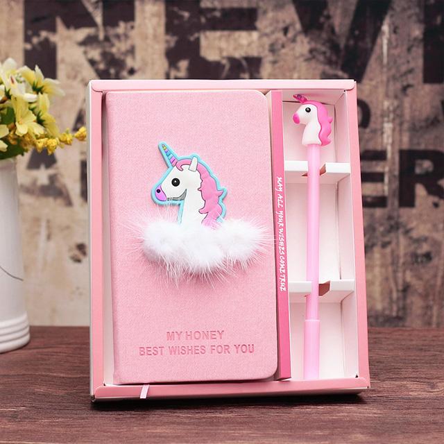 超萌豬豬造型空白筆記本 筆 原子筆 套裝販售 禮盒 粉紅豬 火烈鳥 火鶴 紅鶴 獨角獸【QCDJ40007】