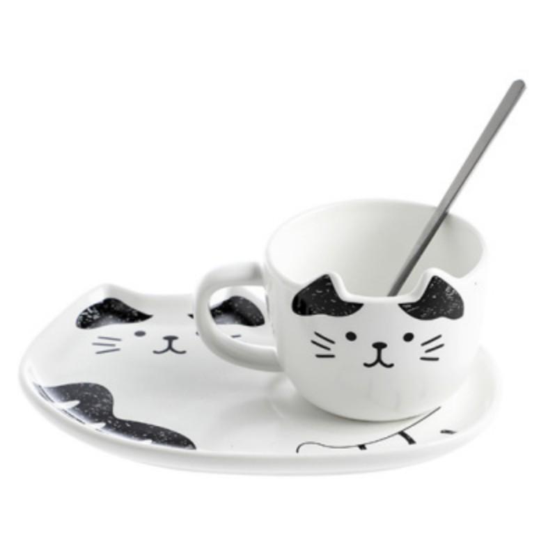 品名:貓咪陶瓷咖啡杯 顏色分類: 黑貓 花貓 商品材質: 陶瓷 商品重量: 625g 商品包裝:紙盒 商品尺寸:見詳情圖 商品風格: 北歐風格 流行元素: 卡通 咖啡杯配件: 均配 出售方式:套裝 是