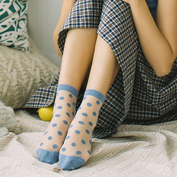 現貨★原價199特價99★JUN05 襪子 可愛點點玻璃絲襪【I0045】2色 DORA