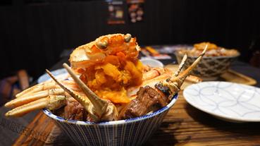 地表最強燒肉丼「蟹寶王丼」開箱│最霸氣的秋葉蟹每日限量就在開丼燒肉 vs丼飯(環球板橋車站店)
