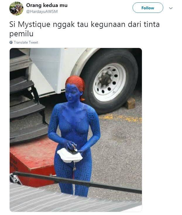 gambar 1 - meme tinta biru pemilu mistik
