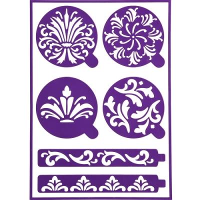 《Wilton》紋飾蛋糕貼紙裝飾片組