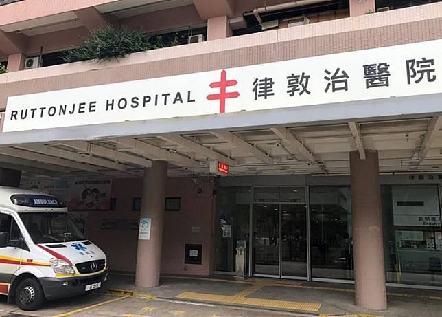 確診武漢肺炎的患者在律敦治醫院隔離治療。(林耀康攝)