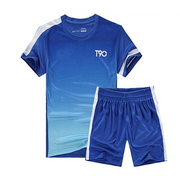 運動套裝男健身套裝夏季休閒運動服運動裝短袖短褲跑步速干運動衣