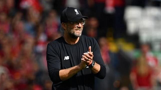 Reaksi manajer Liverpool Jurgen Klopp usai timnya memetik kemenangan di pertandingan Liga Inggris. [AFP]
