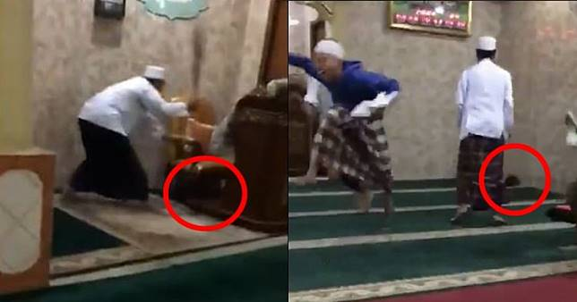 Detik-detik tikus bikin heboh remaja masjid ini kocak abis