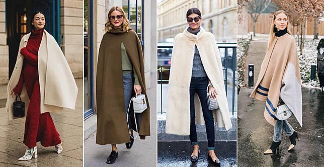披上去華麗變身~穿膩了冬大衣,本季用長披風搭出新鮮感