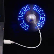 [拉拉百貨] 可編輯 字幕風扇 閃字風扇 USB風扇 告白神器 LED 廣告 迷你風扇 婚禮佈置 創意禮品 C00020
