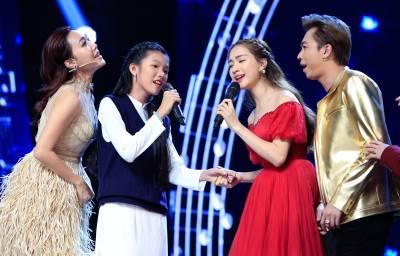 Hòa Minzy 'lấn át' Khả Như, Diệu Nhi trên hàng ghế HLV show âm nhạc