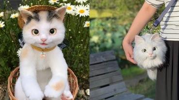 貓奴會瘋掉!日本1:1貓咪包逼真度100%,確定眼睛不會眨?