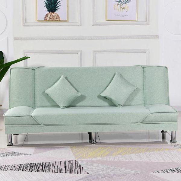 布藝懶人折疊沙發兩用客廳小戶型北歐風雙人三人簡約現代小沙