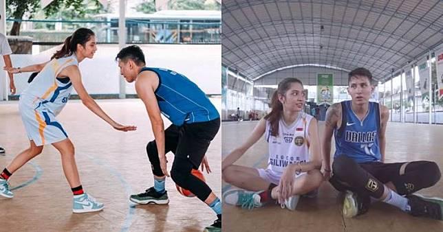 9 Momen Mikha Tambayong dan Daniel Wenas main basket, kompak abis