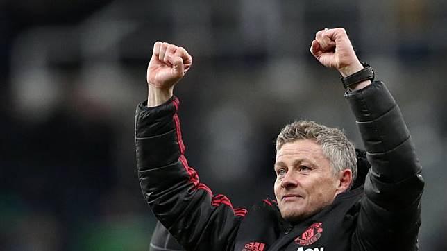 Sudah empat pertandingan Manchester United bertanding dibawah asuhan   Ole Gunnar Solskjaer, dan keempat pertandingan tersebut diraih dengan kemenangan. REUTERS/Scott Heppell