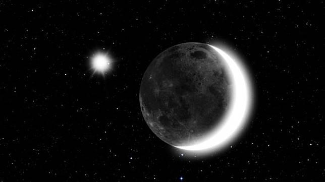 Bulan dan Venus. [Shutterstock]