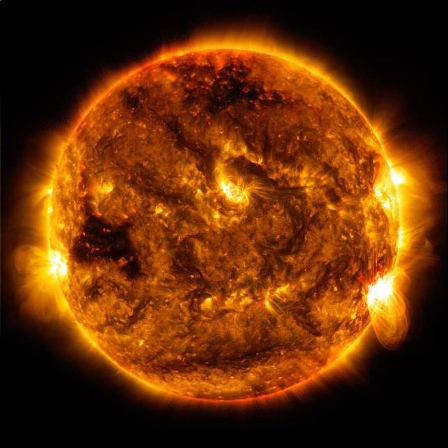 GAMBAR Matahari yang ditangkap oleh NASA.*
