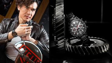 速度的經典象徵 楊一展手腕上的 TAG Heuer Carrera Heuer 02 計時腕錶