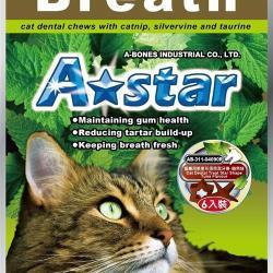 Astar 貓專用星星形薄荷潔牙骨袋裝-鮪魚味(15gx6入/包)