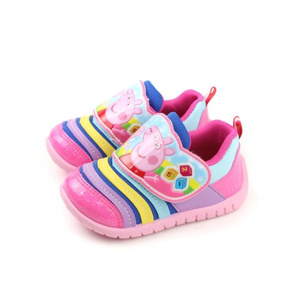 粉紅豬小妹 Peppa Pig 運動鞋 魔鬼氈 童鞋 粉紅色 小童 PG8536 no714