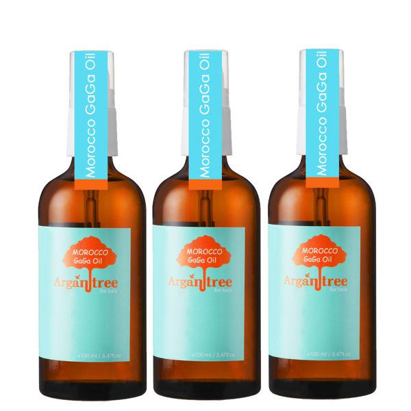 【買就送帕芬香水髮油3入】【Morocco GaGa Oil】摩洛哥醫美級秀髮油100ml(3入組)