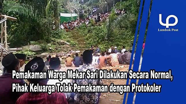 VIDEO : Warga Beramai-ramai Ikuti Pemakaman Pasien Positif Korona di Gunungsari