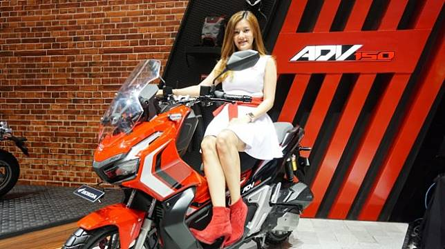 Honda ADV 150 diluncurkan dalam pameran GIIAS 2019 di ICE, Tangerang, Banten, Kamis (18/7/2019). [Suara.com/Manuel Jeghesta Nainggolan]
